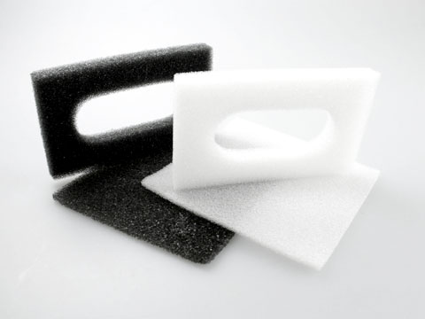 Foam in lay in black and white
