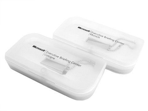 White PP plastic boxes with logo printing